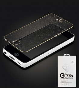 Premium Tempered Glass Sparkles iphone 5C