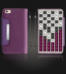 Diamond Wallet iphone 6 Plus/6S Plus - Purple