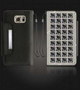 Diamond Wallet Galaxy S6 - Black