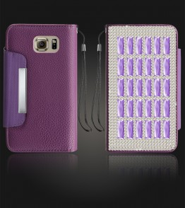 Diamond Wallet Galaxy S6 - Purple