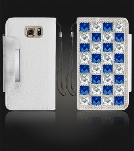 Diamond Wallet Galaxy S6 - White
