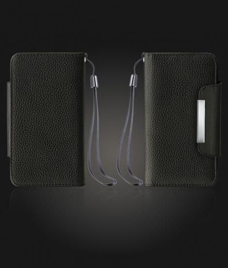 Detachable Lychee PU wallet Galaxy S6 - Black