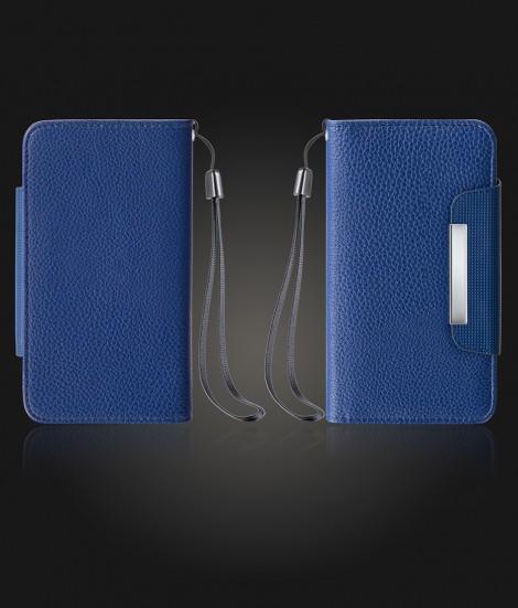 Detachable Lychee PU wallet Galaxy S6 - Blue