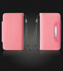 Detachable Lychee PU wallet Galaxy S6 edge - Pink