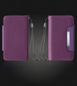 Detachable Lychee PU wallet Galaxy S6 - Purple