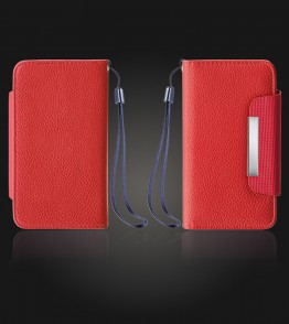 Detachable Lychee PU wallet Galaxy S6 - Red