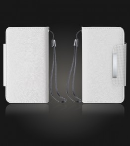 Detachable Lychee PU wallet Galaxy S6 edge - White
