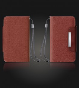 Detachable Lychee PU wallet Galaxy S6 - Brown