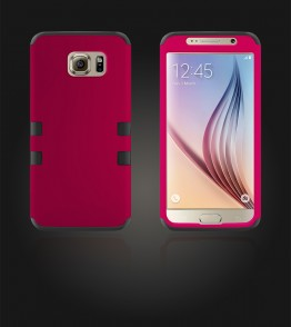 Hybrid Protector Cover Galaxy S6 - Hot Pink