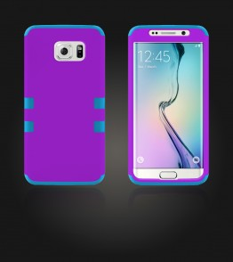 Hybrid Protector Cover Galaxy S6 edge - Purple