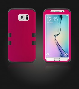 Hybrid Protector Cover Galaxy S6 edge - Hot Pink