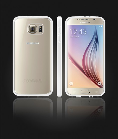 Clear Back Gummy Case Galaxy S6 - White