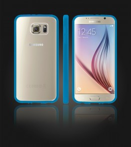 Clear Back Gummy Case Galaxy S6 - Blue