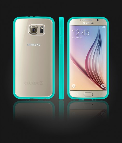 Clear Back Gummy Case Galaxy S6 - Mint