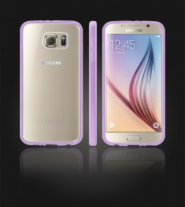 Clear Back Gummy Case Galaxy S6 - Purple