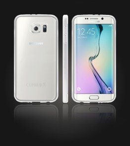 Clear Back Gummy Case Galaxy S6 edge - White