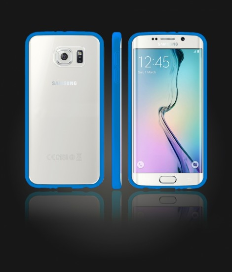 Clear Back Gummy Case Galaxy S6 edge - Blue
