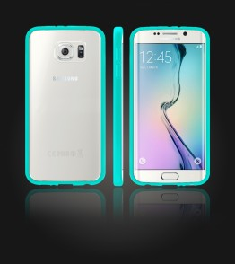 Clear Back Gummy Case Galaxy S6 edge - Mint