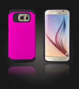 Duo Protection Case Galaxy S6 - Hot Pink