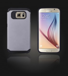 Duo Protection Case Galaxy S6 - Silver