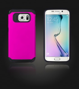 Duo Protection Case Galaxy S6 edge - Hot Pink