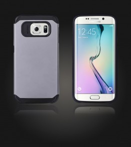 Duo Protection Case Galaxy S6 edge - Silver