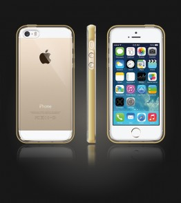 Detachable Bumper TPU Clear case iphone 5/5S/SE - Gold