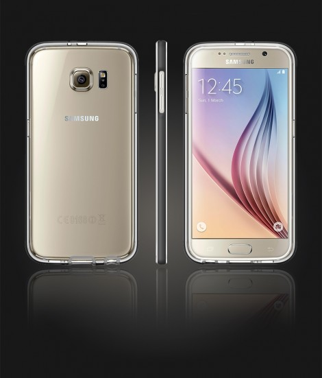 Detachable Bumper TPU Clear case Galaxy S6 - Black