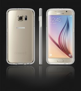 Detachable Bumper TPU Clear case Galaxy S6 - Silver