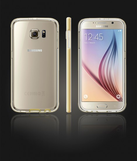 Detachable Bumper TPU Clear case Galaxy S6 - Gold