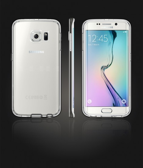 Detachable Bumper TPU Clear case Galaxy S6 edge - Black