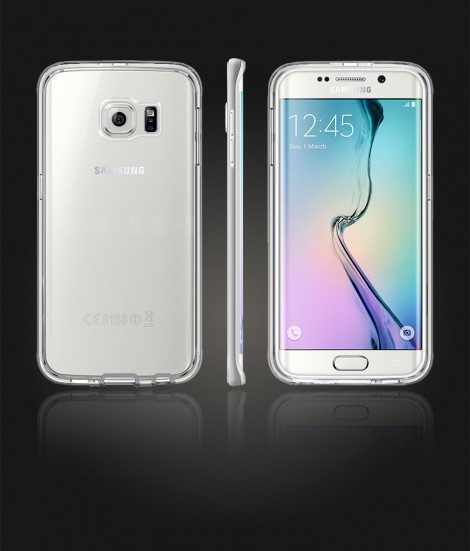 Detachable Bumper TPU Clear case Galaxy S6 edge - Silver