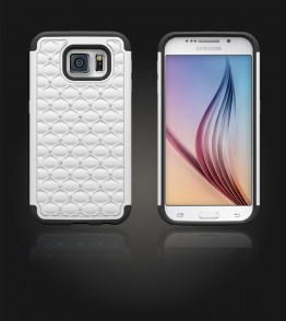 SiliTough diamond case Galaxy S6 - White