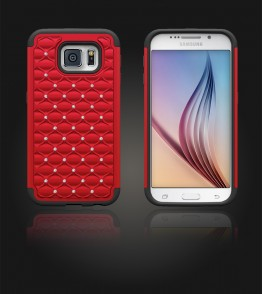 SiliTough diamond case Galaxy S6 - Red