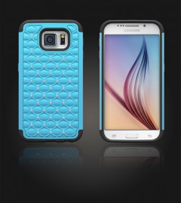 SiliTough diamond case Galaxy S6 - Light Blue