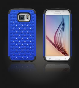 SiliTough diamond case Galaxy S6 - Blue