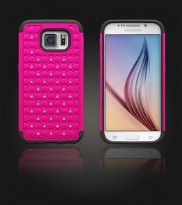 SiliTough diamond case Galaxy S6 - Hot Pink