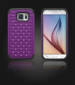 SiliTough diamond case Galaxy S6 - Purple