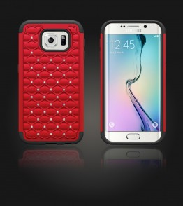 SiliTough diamond case Galaxy S6 edge - Red