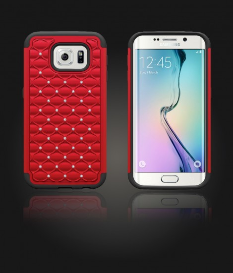 SiliTough diamond case Galaxy S6 edge - Red