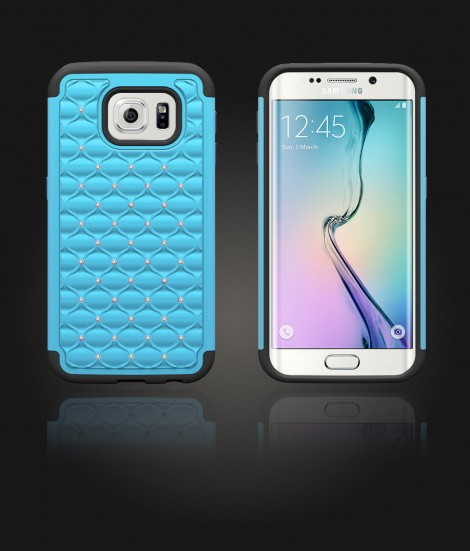 SiliTough diamond case Galaxy S6 edge - Light Blue