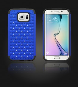 SiliTough diamond case Galaxy S6 edge - Blue
