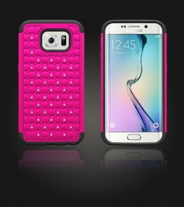 SiliTough diamond case Galaxy S6 edge - Hot Pink