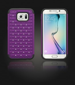 SiliTough diamond case Galaxy S6 edge - Purple