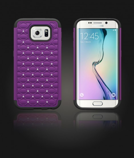 SiliTough diamond case Galaxy S6 edge - Purple