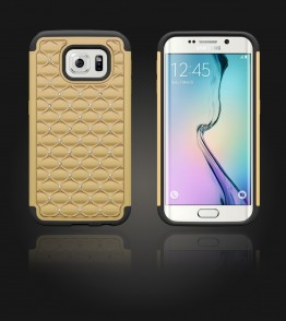 SiliTough diamond case Galaxy S6 edge - Gold