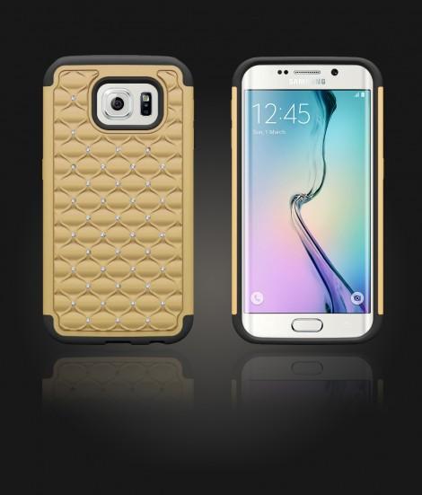 SiliTough diamond case Galaxy S6 edge - Gold