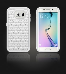 SiliTough diamond case Galaxy S6 edge - White