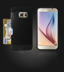 Metal Credit Case Galaxy S6 - Black