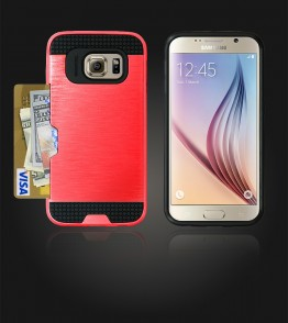 Metal Credit Case Galaxy S6 - Red